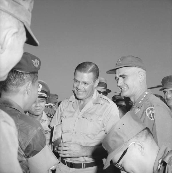 History Poster featuring the photograph Robert Mcnamara And General by Everett