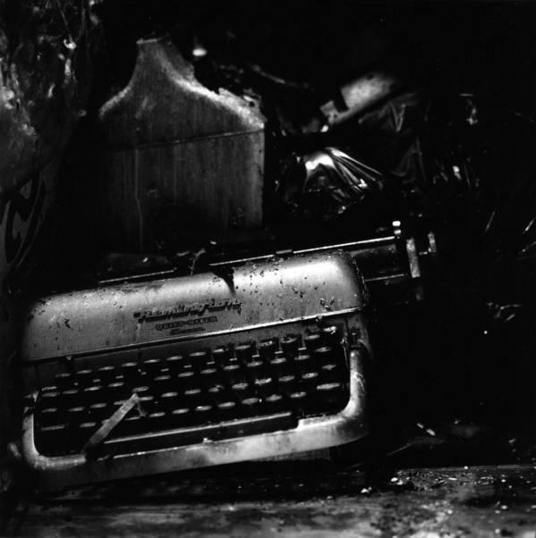 Typewriter Poster featuring the photograph Typewriter by Eric Tadsen