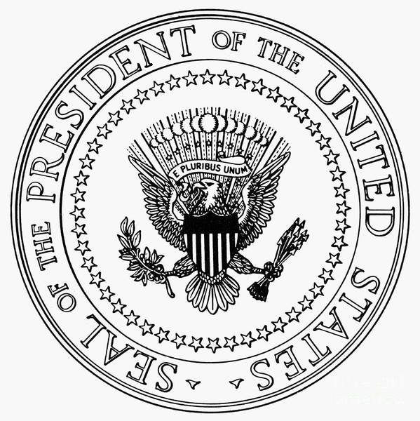 b6496e9981bcb6 America Poster featuring the photograph U.s. Presidential Seal by Granger