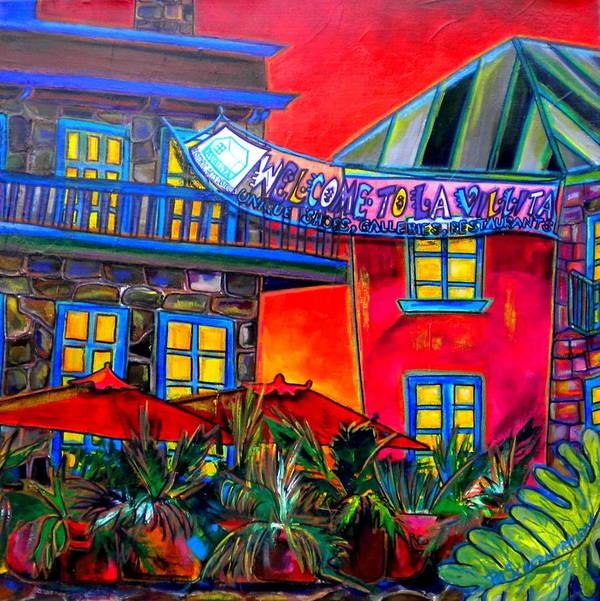 San Antonio Poster featuring the painting La Villita Entrance by Patti Schermerhorn