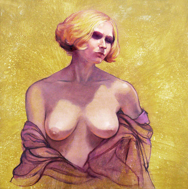 Female Nudes Poster featuring the painting Portrait Of Amy by Roz McQuillan