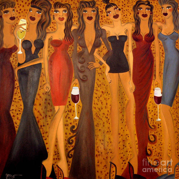 Women Artwork Poster featuring the painting Seven Sisters Of Pleiades by Helen Gerro