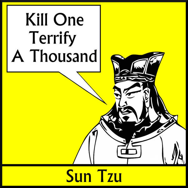 Sun Tzu Poster featuring the digital art Sun Tzu by War Is Hell Store