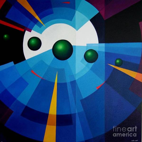 Geometric Abstract Poster featuring the painting Ab Oculum by Alberto DAssumpcao