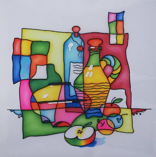Still Life Poster featuring the painting Apple Wine by Tatiana Antsiferova
