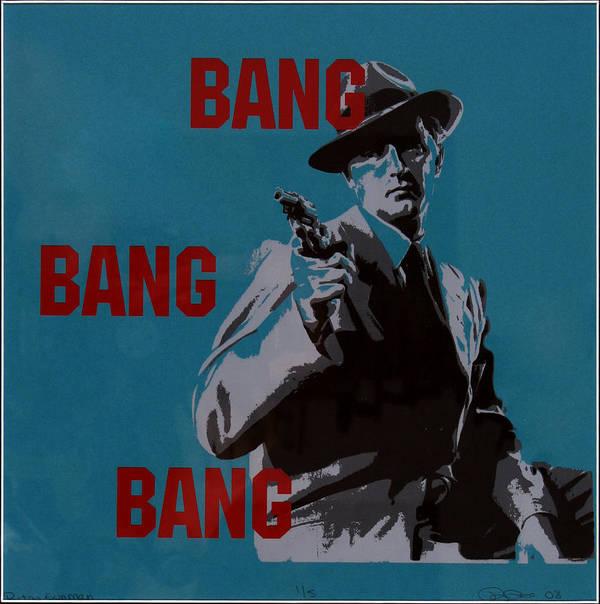 Mob Poster featuring the painting Bang Bang Bang 1 by Robin DeLisle