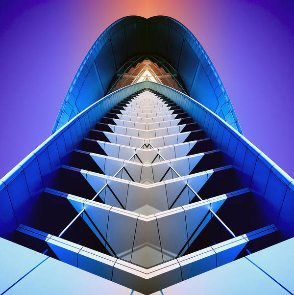 Blue Poster featuring the photograph Blue Shift by Wayne Sherriff