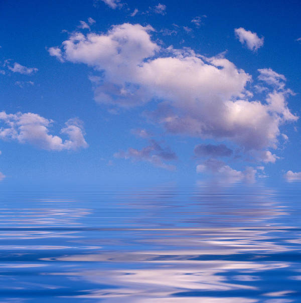 Original Art Poster featuring the photograph Blue Sky Reflections by Jerry McElroy