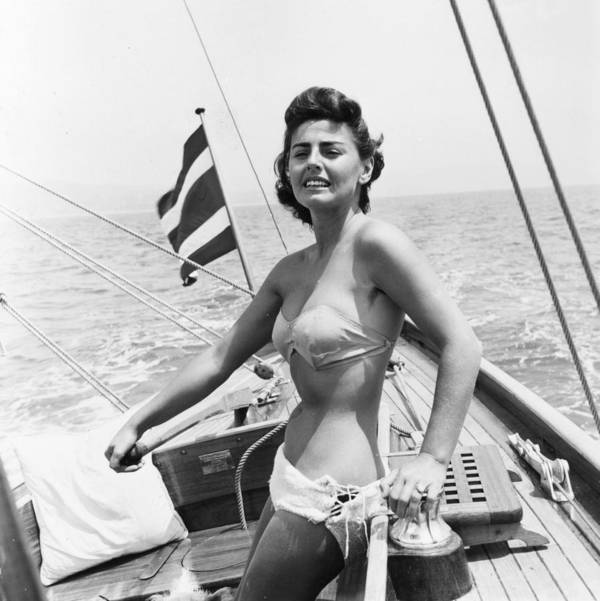 Mid Adult Poster featuring the photograph Boating Bather by Baron