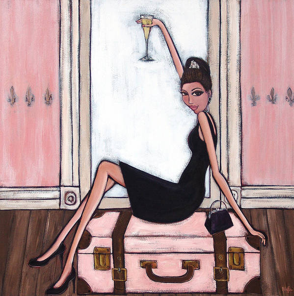 Audrey Hepburn Poster featuring the painting Bon Jour by Denise Daffara