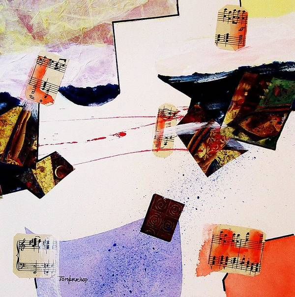 Watercolors Poster featuring the painting Broken Dream by Tom Herrin