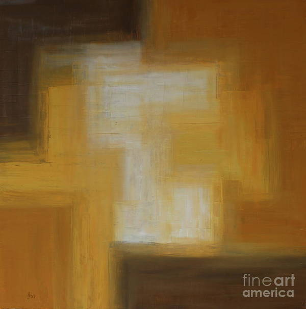 Colors Poster featuring the painting Brown Yellow Abstract by Christiane Schulze Art And Photography
