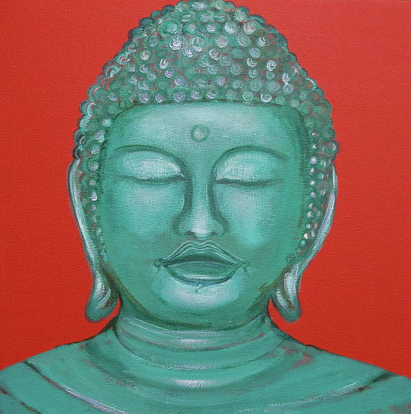 Buddah Poster featuring the painting Buddah I by Sue Wright