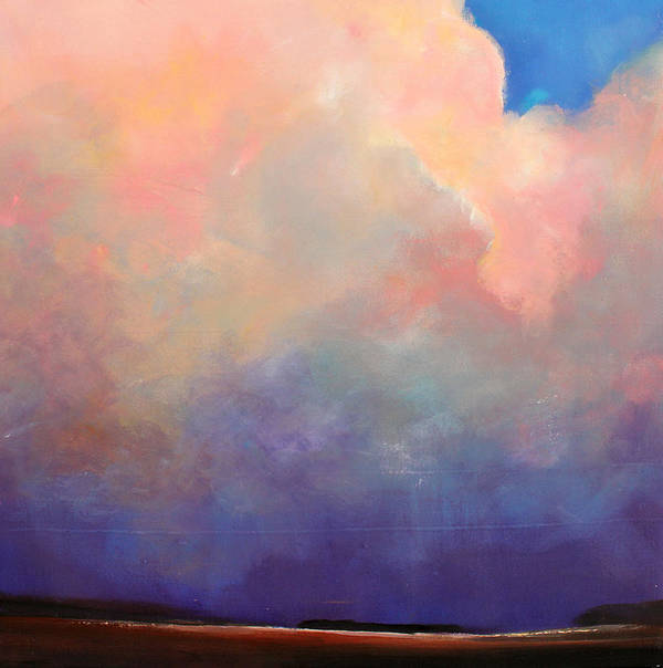 Clouds Poster featuring the painting Cloud Light by Toni Grote