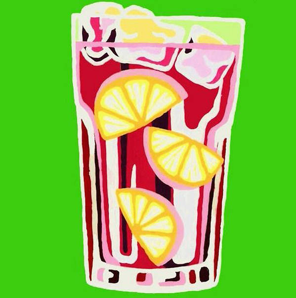 Pop Art Poster featuring the painting Coctail by Heli Luukkanen
