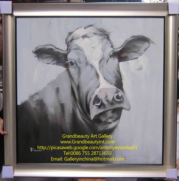 Original Paintings Poster featuring the painting cow by Darren