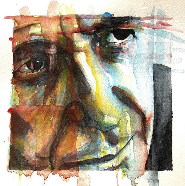 Leonard Cohen Poster featuring the painting Dance Me To The End Of Love by Paul Lovering