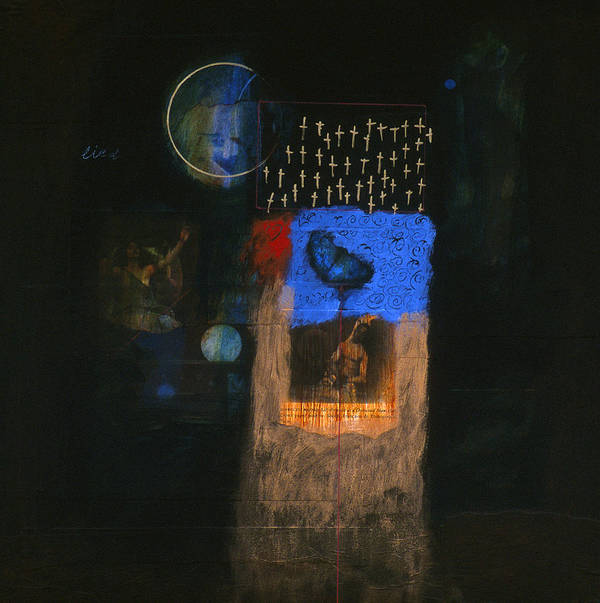 Mixed Media Poster featuring the mixed media Dream Song by Peter Stephen Wise