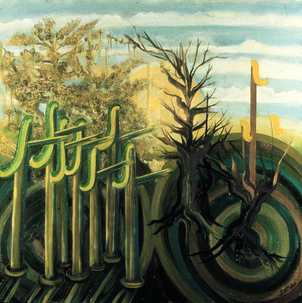 Fantastic Forest  Poster featuring the painting Fantastic Forest by Ione Citrin