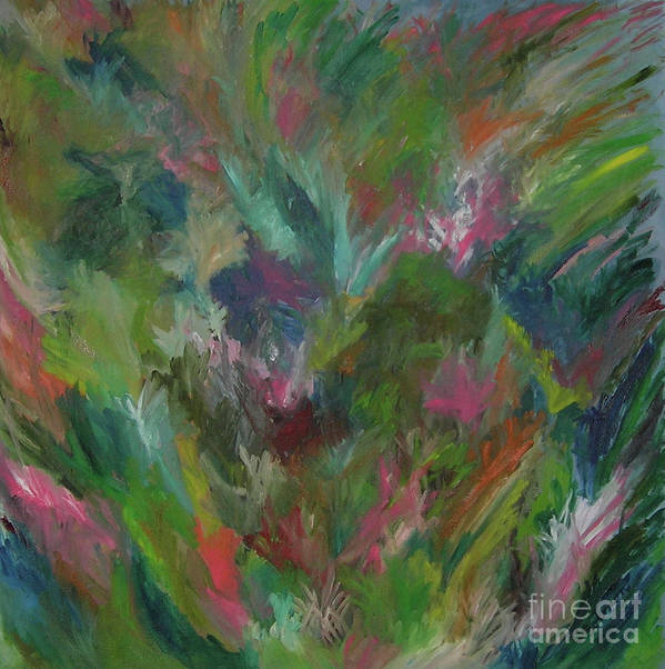 Floral Poster featuring the painting Floral Abstraction by Cori Solomon