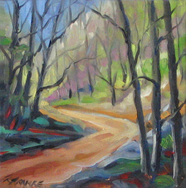 Art Poster featuring the painting Forest Way by Richard T Pranke