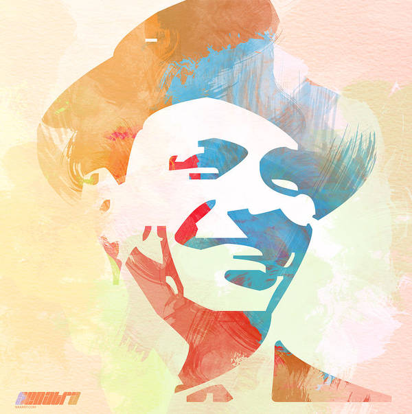 Frank Sinatra Poster featuring the painting Frank Sinatra by Naxart Studio