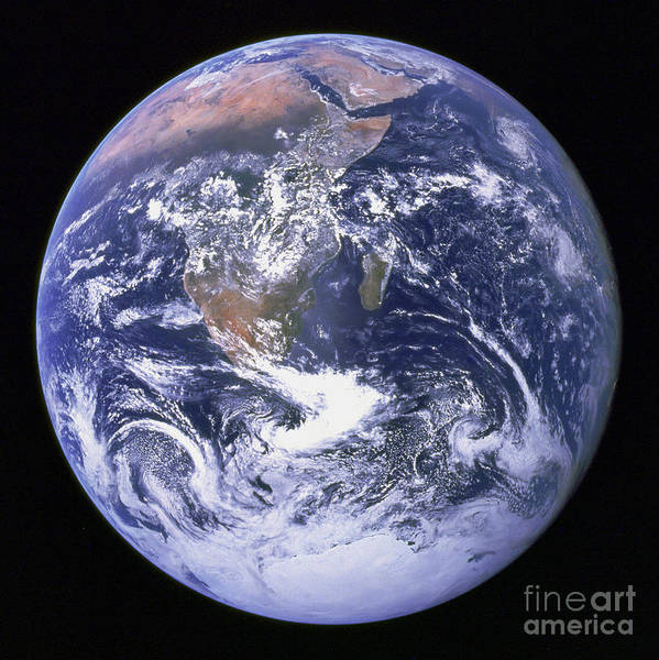 Color Image Poster featuring the photograph Full Earth by Stocktrek Images