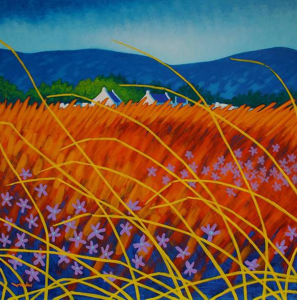 Acrylic Poster featuring the painting Golden Meadow by John Nolan