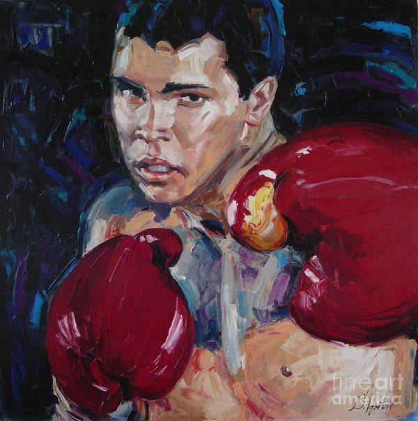 Figurative Poster featuring the painting Great Ali by Sergey Ignatenko