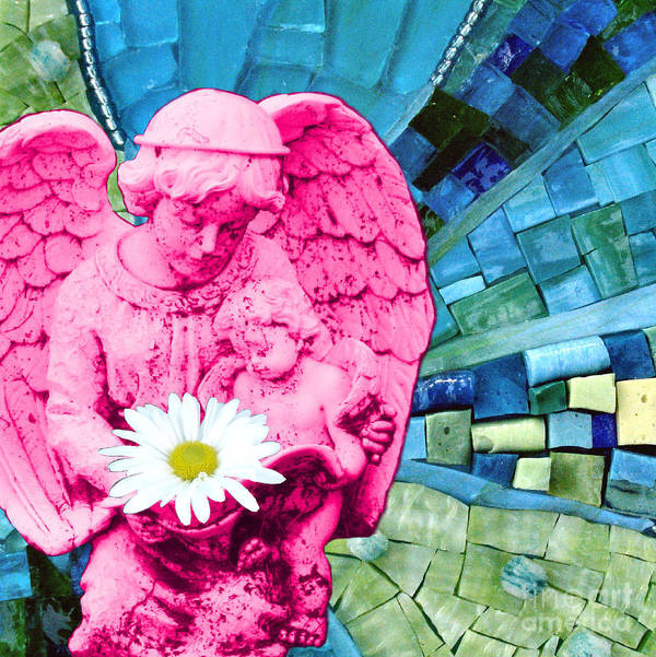 Pink Poster featuring the photograph Guardian Angel by Valerie Fuqua