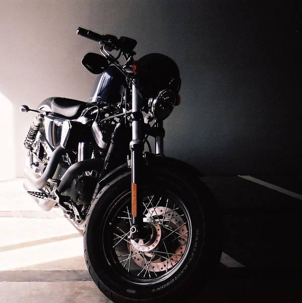 Harley Poster featuring the photograph Harley Davidson by Thitinun Lerdkijsakul