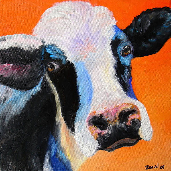 Animal Poster featuring the painting Holy Cow by Mary Jo Zorad