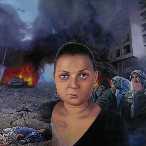 Layal Nagib Poster featuring the painting Homage To Layal Nagib by Miguel Tio