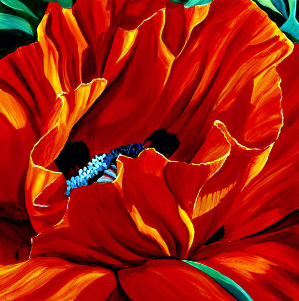 Macro Poster featuring the painting Intensity by Julie Pflanzer