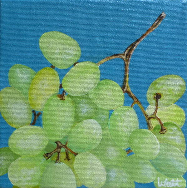 Grapes Poster featuring the painting Juicy Grapes by Tammy Watt