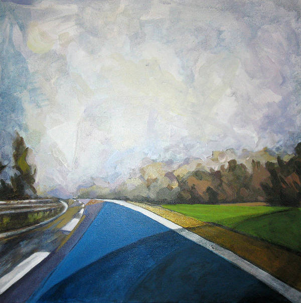 Landscape Poster featuring the painting Just That by Mima Stajkovic