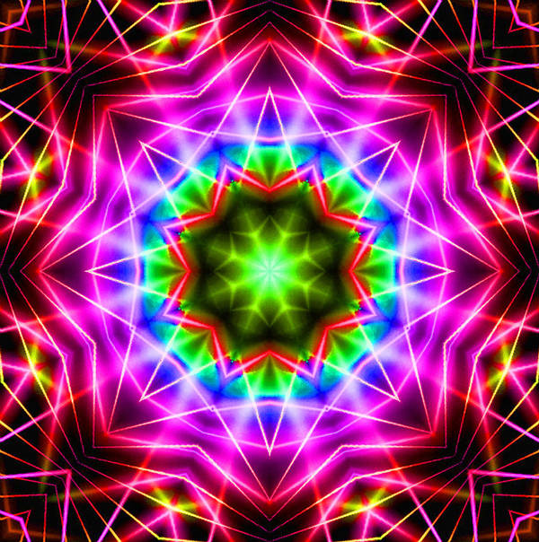Kaleidoscope Poster featuring the digital art Kaleidoscope I by Kenneth Krolikowski