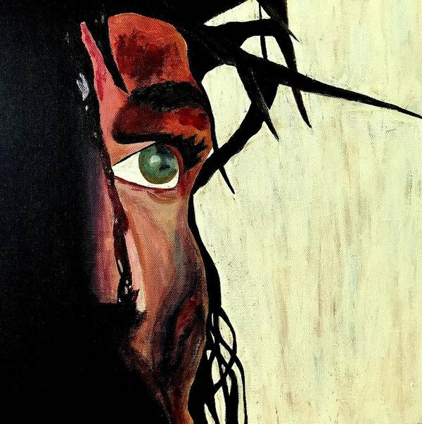Jesus Christ Poster featuring the painting King Of The Jews by Mikayla Ruth Koble