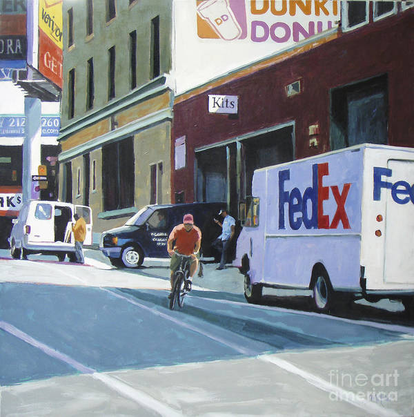 Urban Poster featuring the painting Kits by Patti Mollica