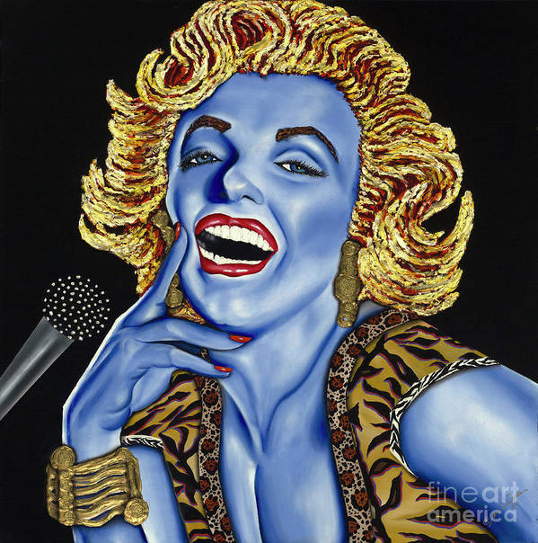 Portrait Poster featuring the painting Marilyn by Nannette Harris