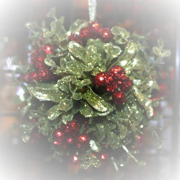 Christmas Poster featuring the photograph Misty Mistletoe by Ellen Barron O'Reilly