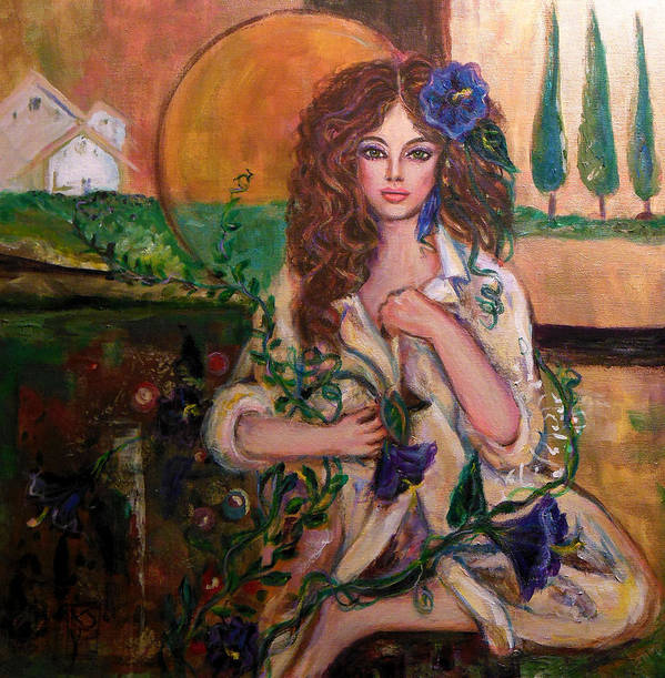 Women Poster featuring the painting Morning Glory by Kimberly Van Rossum