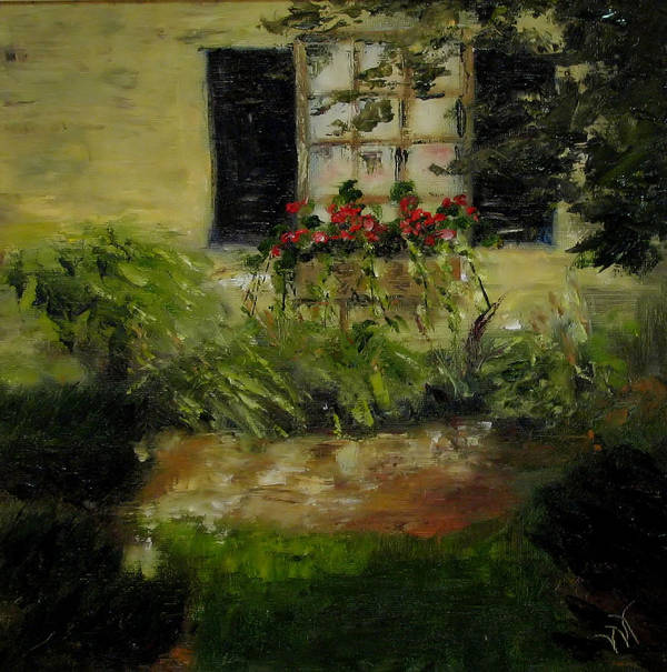Window Box Poster featuring the painting Neal's Path by Wendie Thompson