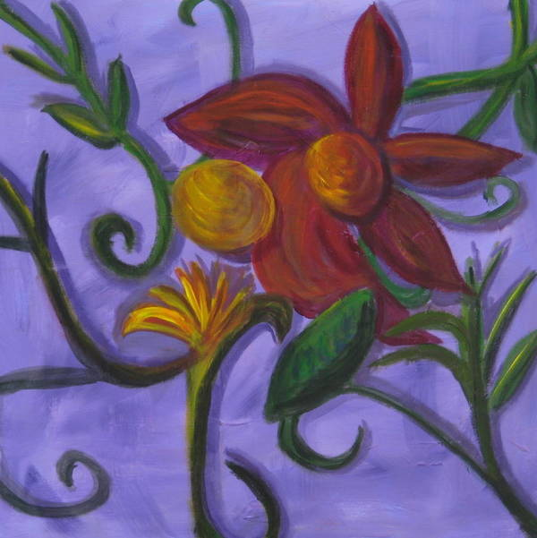 Flower Poster featuring the painting Opus Six by Rebecca Merola