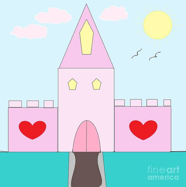 Digital Art Poster featuring the photograph Pink Castle by Mesa Teresita