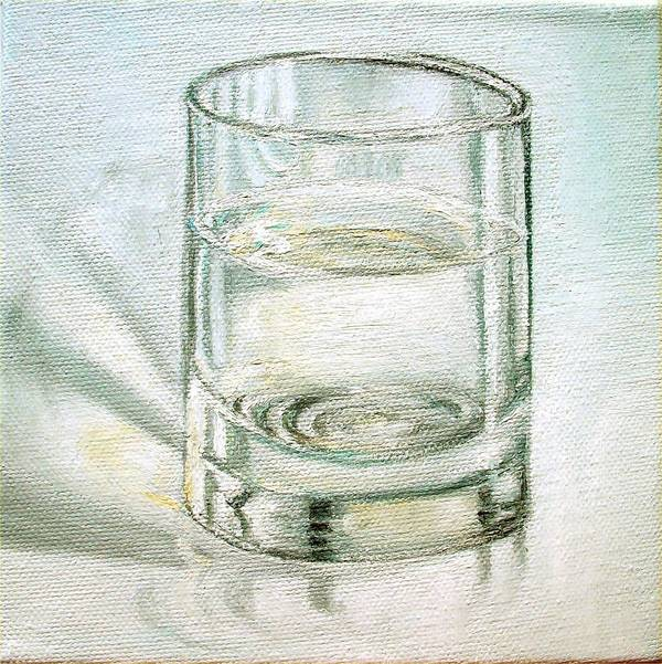 Glass Of Water Poster featuring the painting Pure And Simple 2 by Irene Corey