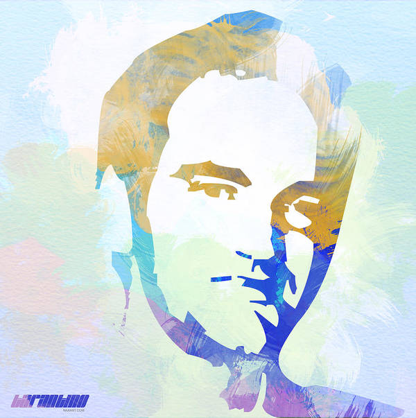 Quentin Tarantino Poster featuring the digital art Quentin Tarantino by Naxart Studio
