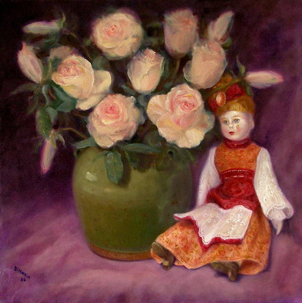 Realism Poster featuring the painting Ramblin Rose by Donelli DiMaria