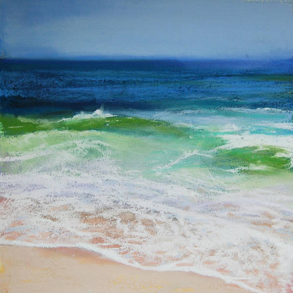 Wave Poster featuring the pastel Relax by Jeanne Rosier Smith