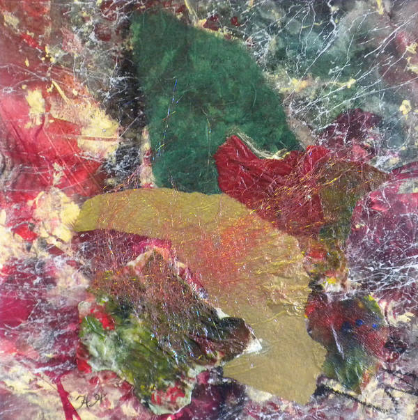 Abstract Poster featuring the mixed media Remembering Autumn by Helen Hammerman